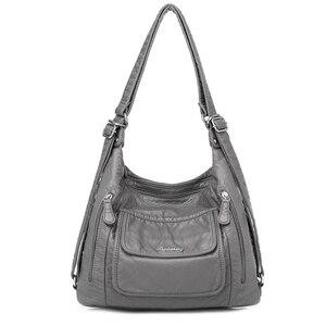 Image 1 - Sıcak deri lüks çanta kadın çanta tasarımcısı çok fonksiyonlu omuz çantaları kadınlar için 2020 seyahat sırt çantası Mochila Feminina Sac