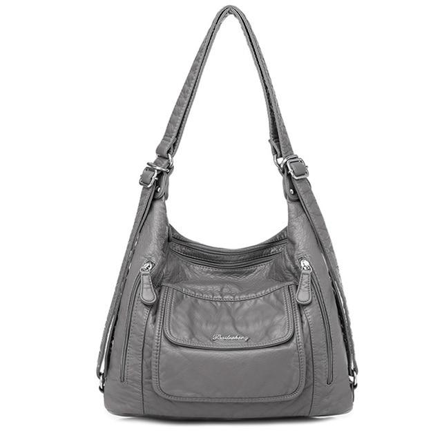 Sıcak deri lüks çanta kadın çanta tasarımcısı çok fonksiyonlu omuz çantaları kadınlar için 2020 seyahat sırt çantası Mochila Feminina Sac