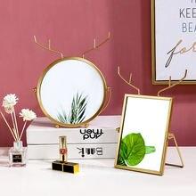Мультяшное Железное Зеркало для макияжа декоративные зеркала