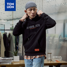 TONLION Man Luxury Brand Hoodies Men Spring Fashion Letter Print Sweatshirt Hooded Dress Tops for Males Loose Clothes Pullovers