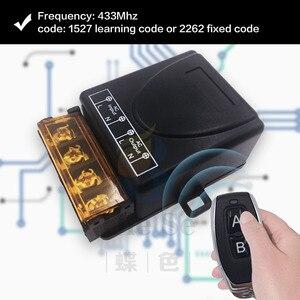 Image 5 - 433MHz العالمي للتحكم عن بعد التيار المتناوب 110 فولت 220 فولت 30A 1CH rf التتابع جهاز إرسال واستقبال للمرآب العالمي والتحكم في الباب