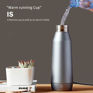 Double Wall Vacuum Insulation Cup Electric Kettle 2 In 1 APP Control Temperature Portable Stainless Steel Cup 300ML Bottle