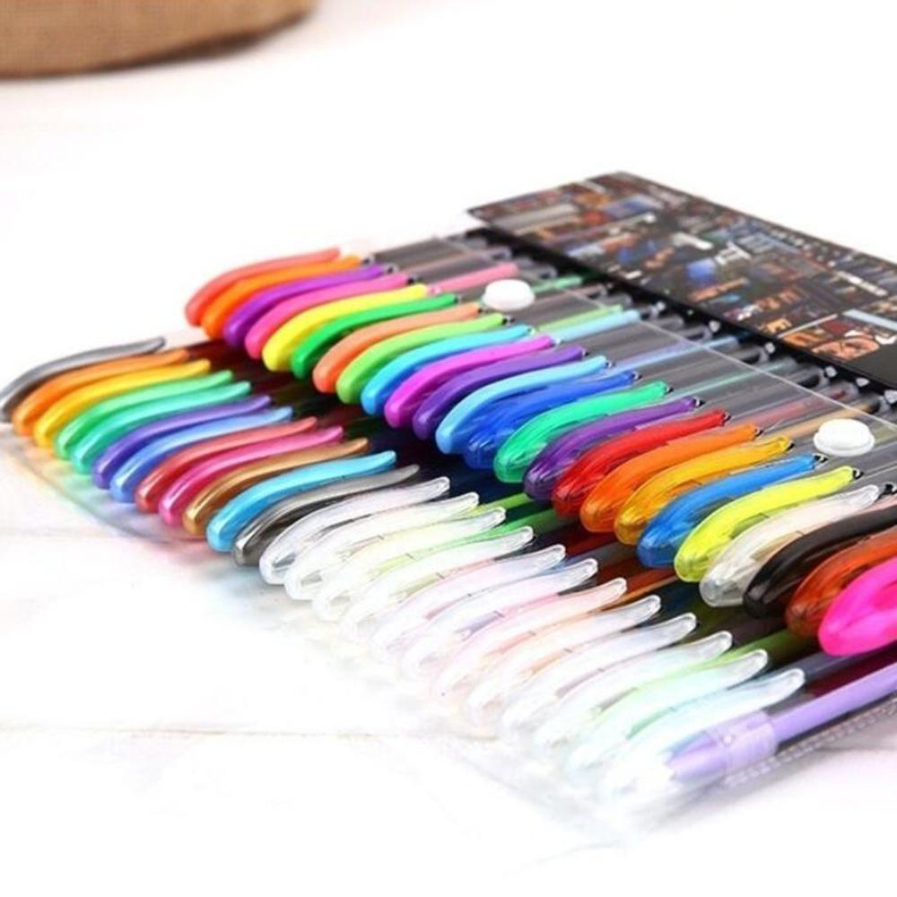 Gel Pens Or Gel Refills Rollerball Pastel Neon Glitter Pen Drawing Color Pen School Office Nurse Doctor Student