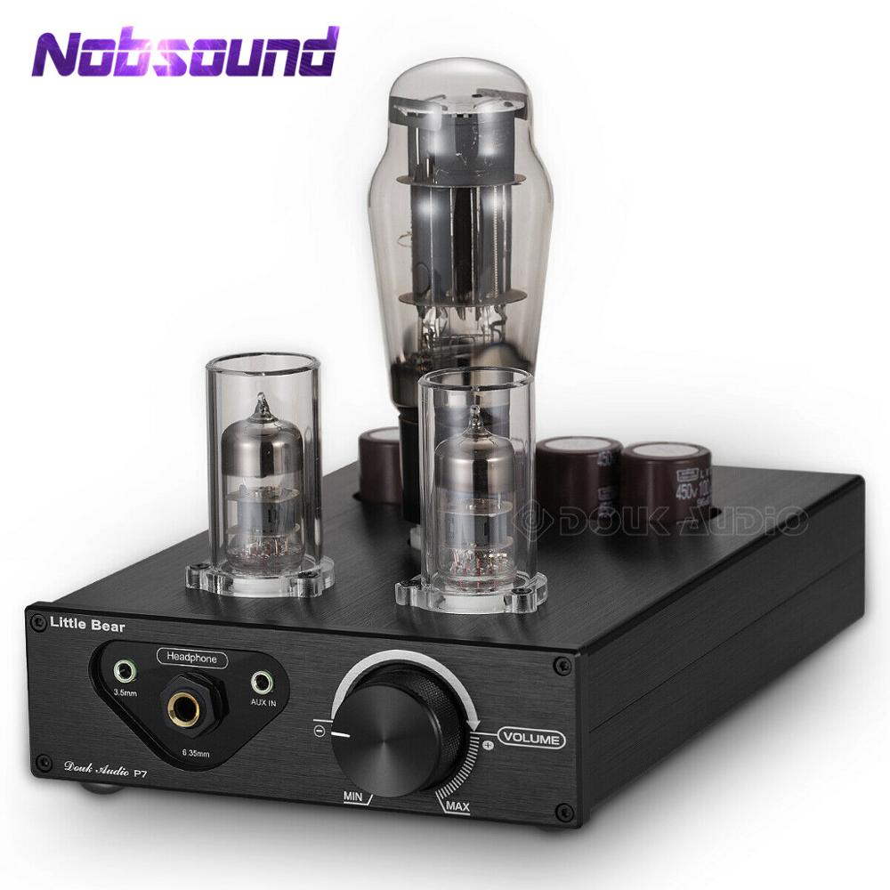 Nobsound HiFi Class A Vacuum Tube Headphone Amplifier Best Stereo Audio Preamplifier Desktop Preamp
