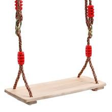 Для взрослых и детей в помещении и на открытом воздухе деревянные качели четыре доска однотонные качели тонкое мастерство уровень безопасности твердый