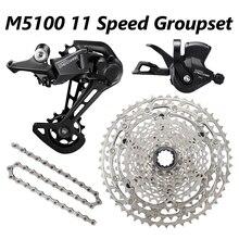 DEORE M5100 11 Tốc Độ Groupset MTB Xe Đạp 1x11 Speed 51T SL/RD/CN/CS M5100 Sang Số Sau Derailleur