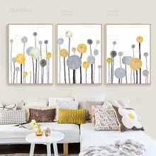 Современные абстрактные цветы украшение для дома настенная Картина