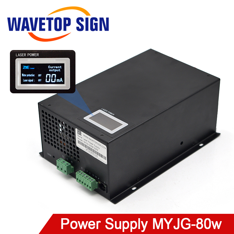 WaveTopSign MYJG-80W CO2 Laser Power Supply Category For CO2 Laser Engraving And Cutting Machine