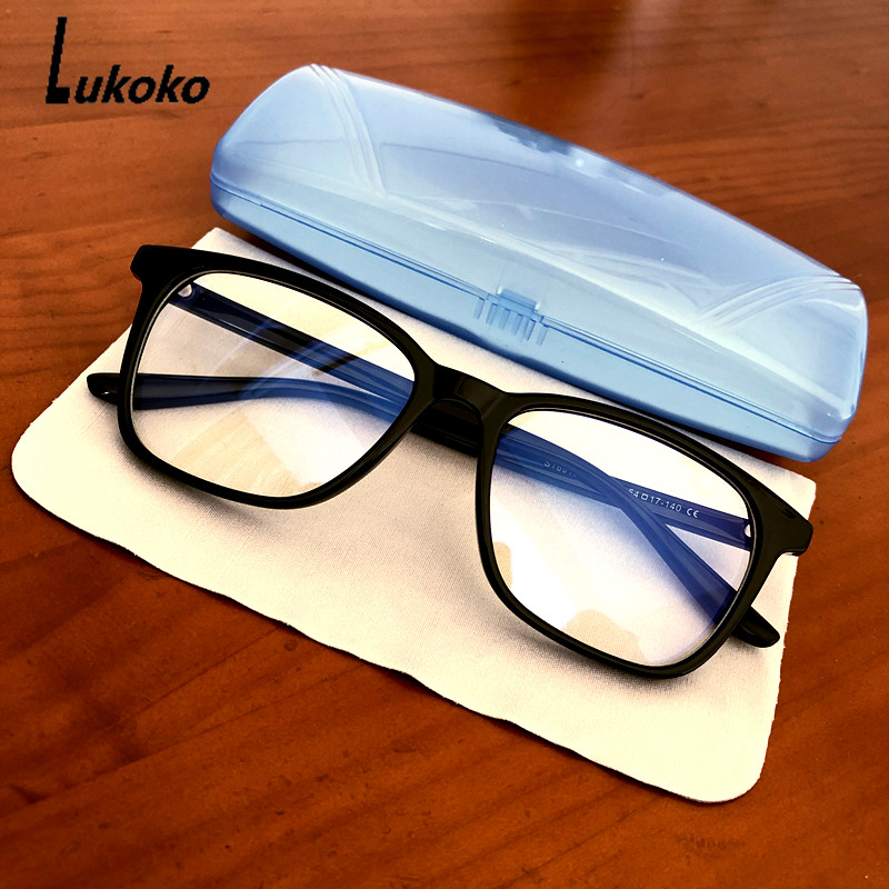 LUKOKO Anti Blue Light Ray Radiation Glasses For Computer Gaming Glasses Men Women Blue Blocking Blocker Goggles Gafas Luz Azul