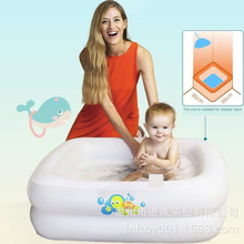 Hot Selling Baby Inflatable Bath PVC Square Child Bathing Pool Bathtub Infant Ho