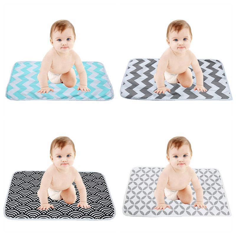 Infant Portable Foldable Washable Waterproof Travel Diaper Changing Pad Baby Nursing Floor Playing Mat