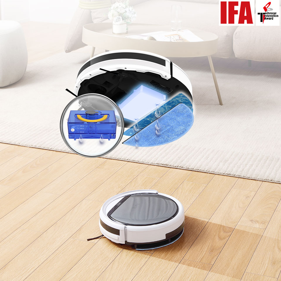 ILIFE V60 Pro Robot Vacuum Cleaner Sweep Wet Mopping Cleaning  Hard Floor automatic Powerful Suction Ultra Thin disinfection 2