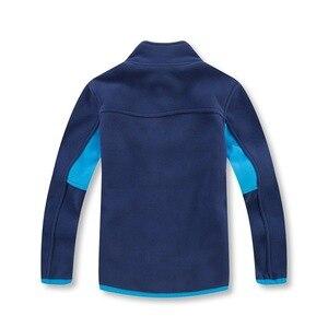 Image 4 - ブランド帯電防止フリース暖かい子コートパッチワーク男の子ジャケット子供のアウターウェア子供服のための3 14年歳