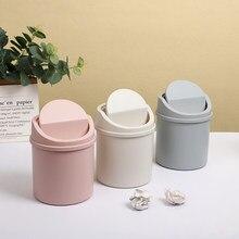 JIANWU Mini prostota pulpit kosz na śmieci do czyszczenia pulpitu o dużej pojemności plastikowy pojemnik na śmieci do materiałów biurowych Kawaii