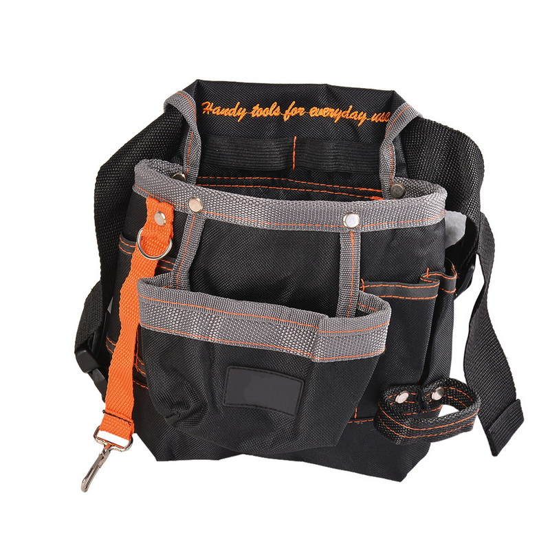 600D Oxford Cloth Tool Pouch Professional Electrician Waist Belt Pocket Tool Storage Bag 7 Pockets Electrician Tools Bag