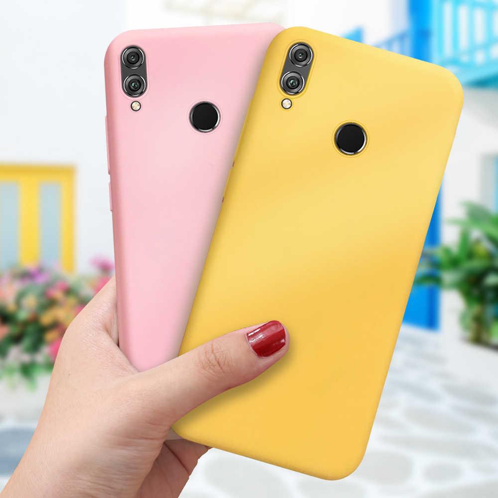 Şeker Renk TPU Kılıf Için Huawei P Akıllı 2019 P20 Mate 20 Lite P30 Pro Slim Kapak Onur 20 pro 10 9 Lite 8X Nova 5 Pro Coque