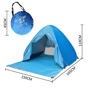 Image 5 - Bãi Biển Lều Bật Lên Tự Động Mở Lều Họ Siêu Nhẹ Gấp Lều Du Lịch Cá Cắm Trại Chống Tia UV Hoàn Toàn Che Ánh Sáng Mặt Trời 2 5 Người