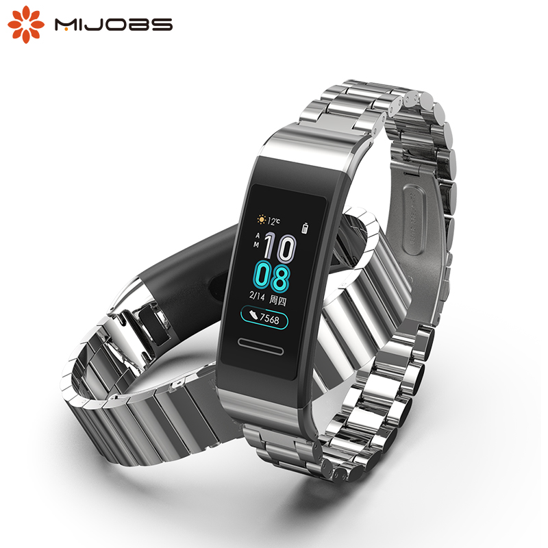 For Huawei Band 4 Pro Strap Metal Wrist Bracelet For Huawei Band 3 Wristbands For Huawei Band 3 Pro Strap Leather Pulsera Correa