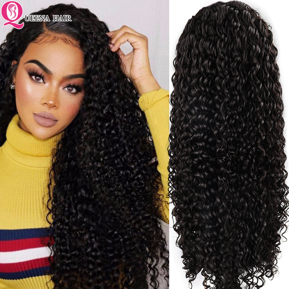 Deep Wave Lace Front Human Hair Wigs For Black Women 13x6/360 Curly Glueless Transparent Lace Wig PrePlucked Remy Brazilian Hair