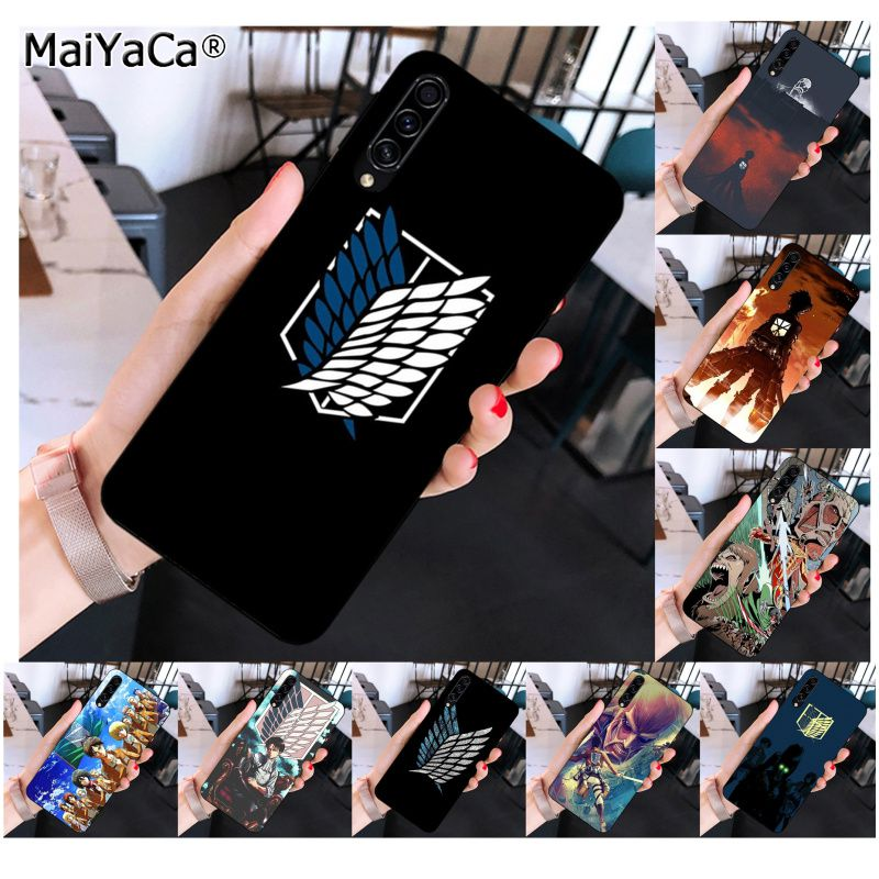 MaiYaCa Anime Japanese attack on Titan Pattern TPU Soft Phone <font><b>Case</b></font> for <font><b>Samsung</b></font> <font><b>A10</b></font> 20s 71 51 10s 20 40 50 70 A9 2018 image