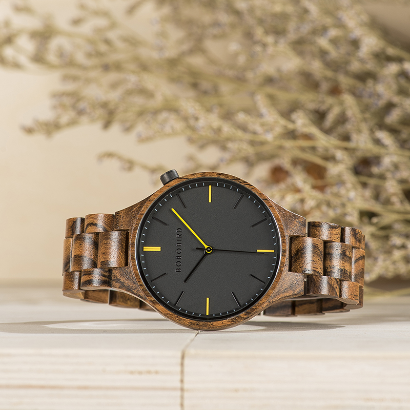 Image 3 - BOBOBIRD montre homme 2019 Watches Mens Wood Timepiece Wristwatch with Gift Wooden Box Dropshipping V S27-in Quartz Watches from Watches