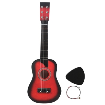 25 Inch 6-String Small Mini Guitar Basswood Guitar with Pick Strings Musical Instruments Beginner for Children Kids Gift acoustic custom guitar 41 inch full size 6 string basswood with guitar kit from us
