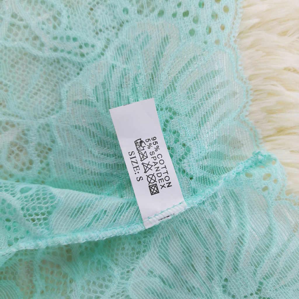 Sexy dentelle femmes culottes florales slips pour filles coton taille basse sous-vêtements femme culotte 6 couleurs Transparent caleçons nouveau