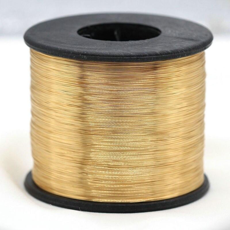 5 метров покрытие из настоящего золота Медный провод, аксессуары к ювелирным украшениям DIY, 0,3 мм 0,4 мм 0,5 мм 0,6 мм металлическая проволока для ...