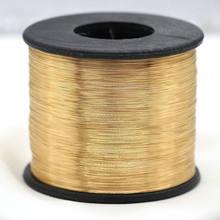 5 metros real ouro chapeado fio de cobre diy jóias acessórios 0.3mm 0.4mm 0.5mm 0.6mm fio de metal para fazer jóias