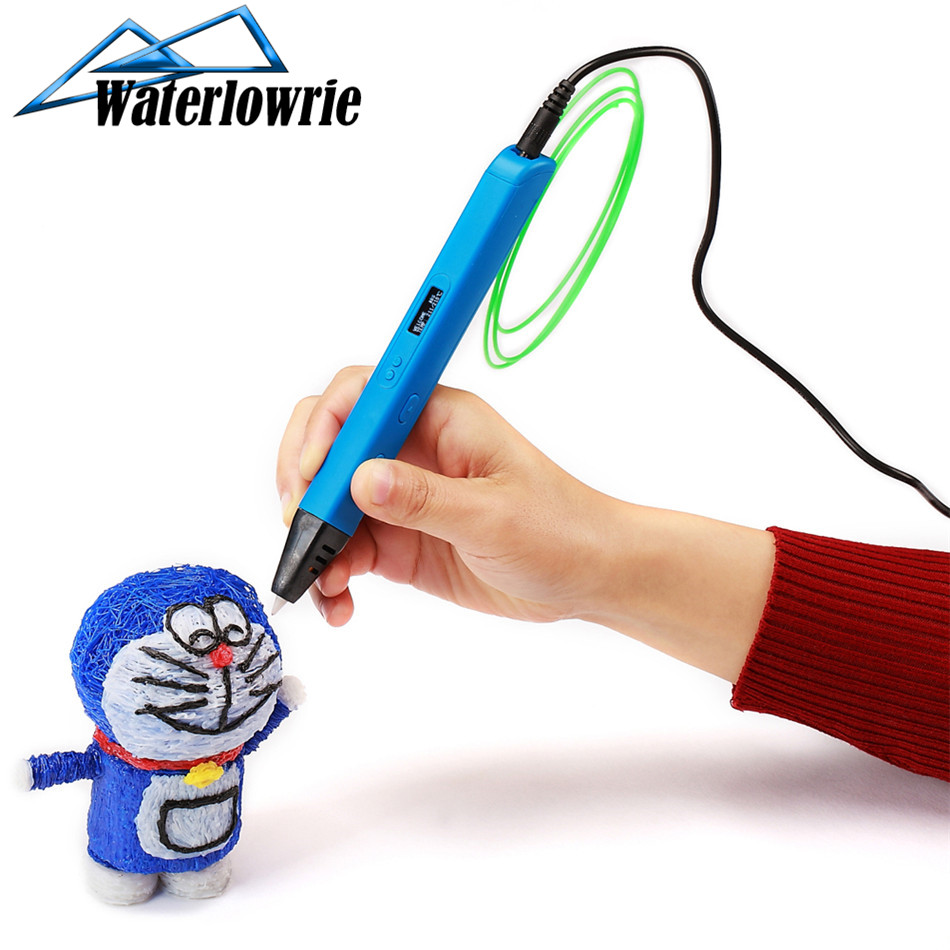 3D Printing Pen 3D Pen Pencil 3D Drawing Pen Free 9m PLA Filament For Kid Child Toy Birthday Gift with OLED Display