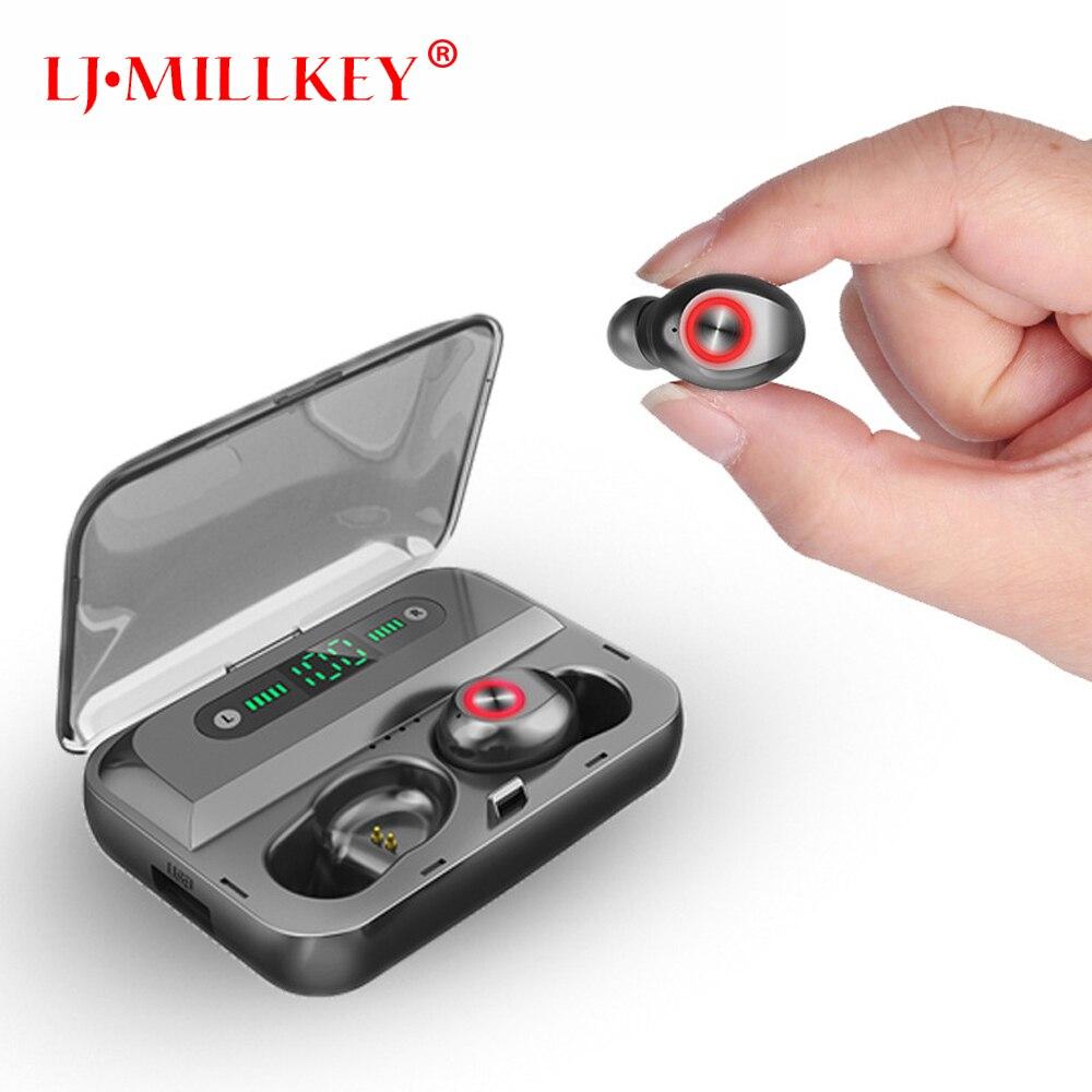 TWS écouteur sans fil Bluetooth 5.0 affichage de puissance contrôle tactile Sport stéréo sans fil écouteurs casque de charge boîte YZ282
