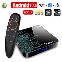 Caja de tv android tv box 2,4G y 5,8G Wifi Media Player 4K 3D Video 4GB 32GB 64GB RK3318 Dispositivo de tv inteligente