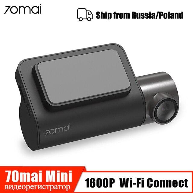 70mai kamera na deskę rozdzielczą Mini 1600P HD inteligentna kamera samochodowa Wifi APP auto wideo Recoder 140 FOV g sensor Night Vision 24H monitor do parkowania
