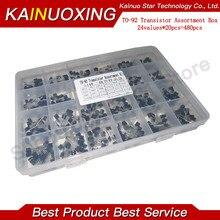 24 Values TO-92 Transistor Assortment Assorted Kit Each BC327 BC337 BC517 BC547 BC548 BC549 2N2222 3906 3904 5401 5551 C945 1015