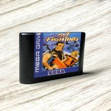 ศิลปะการต่อสู้ EURป้ายFlashkit MDไฟฟ้าทองPCB CardสำหรับSega Genesis Megadriveคอนโซลวิดีโอเกม