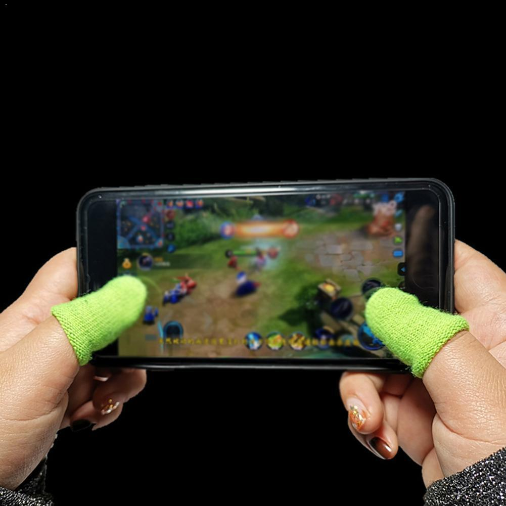 2PCS Professional Touch Screen Thumbs Finger Sleeve Phone Mobile Game Gaming Gloves For Pubg B3V6
