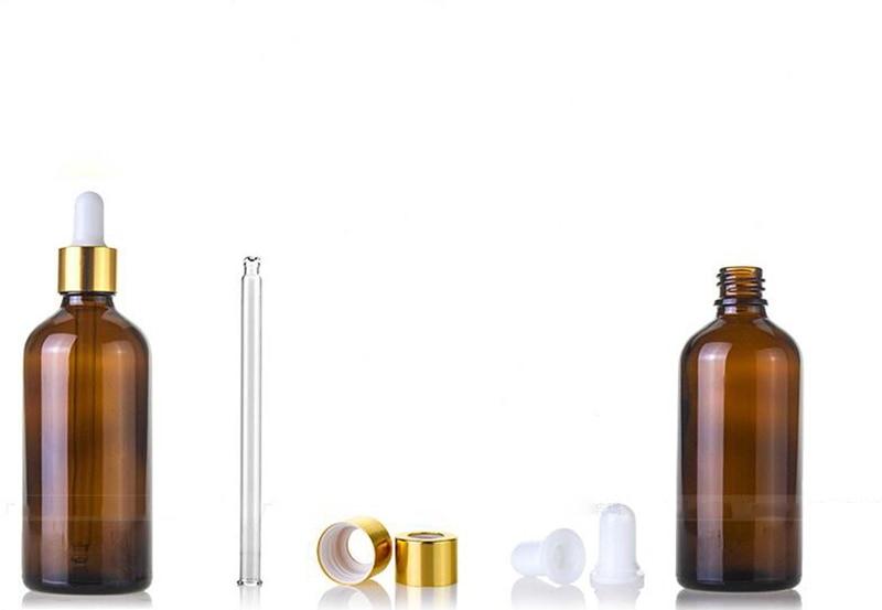 Оптовая продажа 5 мл 10 мл 15 мл 20 мл 25 мл 30 мл 50 мл 100 мл бутылка капельница из янтарного стекла пустые косметические бутылки для эфирного масла - 5