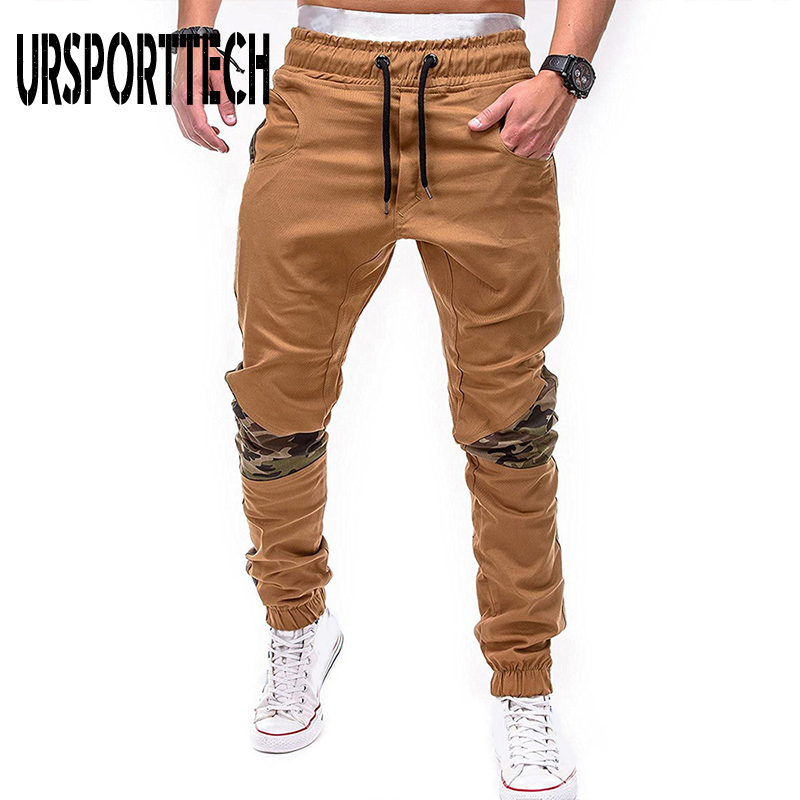 URSPORTTECH Summer Men Camouflage Casual Pants Patchwork Sweatpant Male Cargo Pants Thin Multi-pocket Sportwear Mens Joggers 4XL