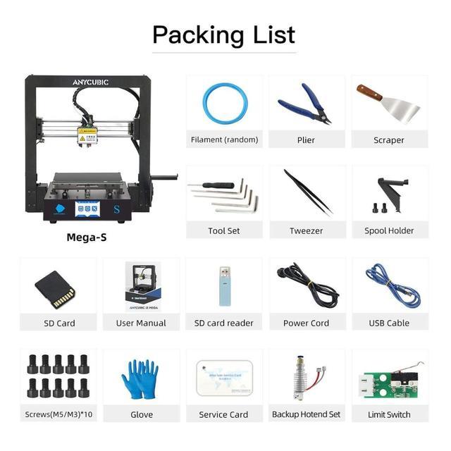 ANYCUBIC Mega-S Mega S 3D Printer I3 Mega Upgrade Large Size TPU High Precision Touch Screen DIY 3D Printer kit impressora 3d 5