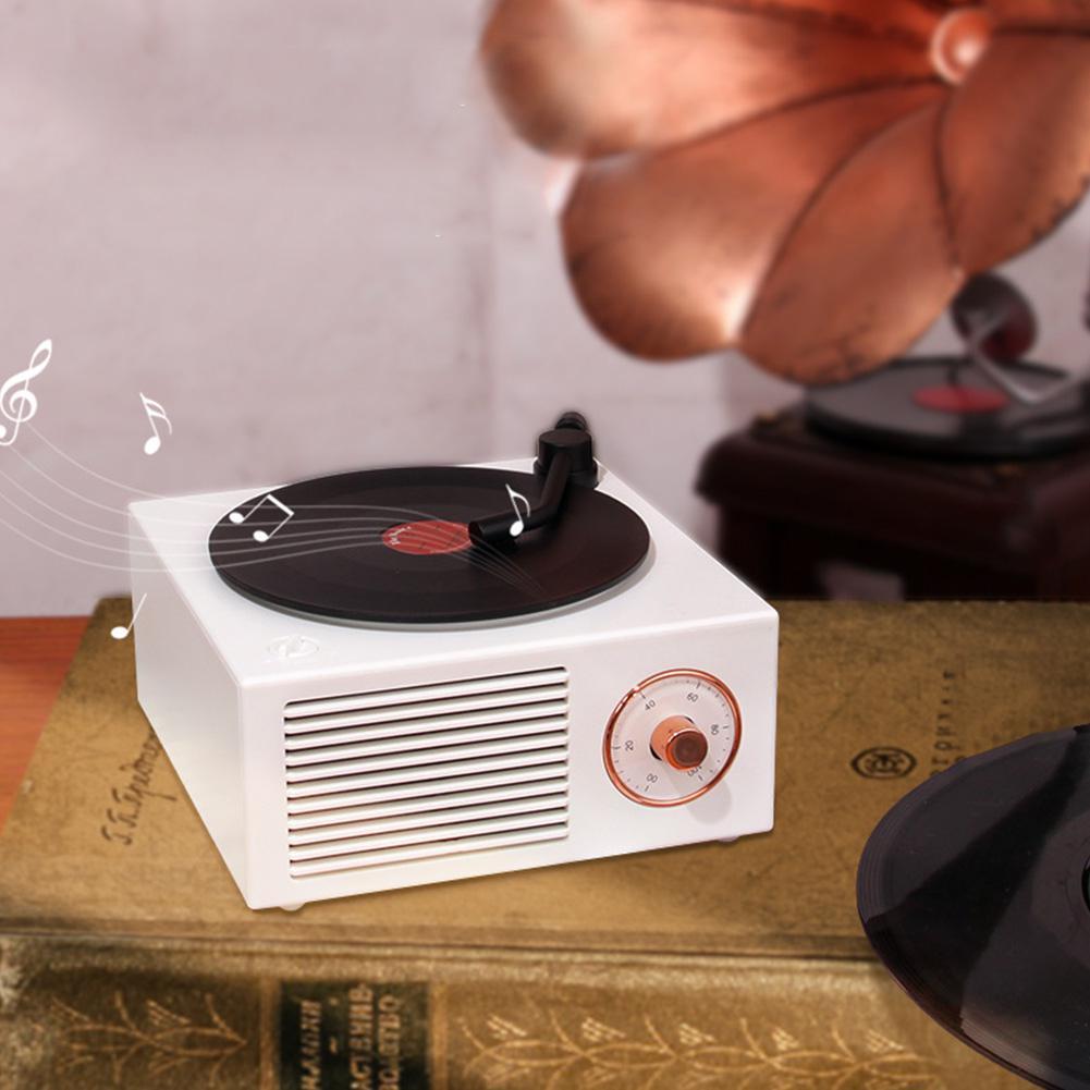 Głośnik bezprzewodowy Mini Bluetooth głośnik bezprzewodowy w stylu Retro przenośny Subwoofer wbudowany akumulator 1000mAh USB do ładowania odtwarzacza muzycznego