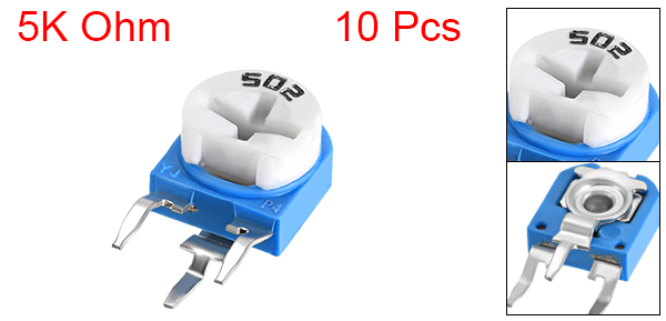 10 Pcs 5K Ohm Top Adjustment Variable Resistors Potentiometer