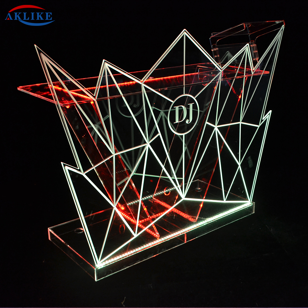 AKLIKE Acrylic Led Disc Table Colorful Lights Removable DJ Table VJ Dedicated Table Can Be Customized Logo Bar Nightclub Atmosph