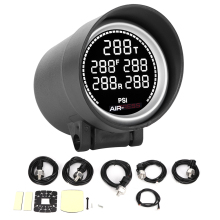 Pneumatic-Shock-Absorber Tank-Pressure-Meter Backlight 2in Car-Accessories 7-Colors Air-Storage