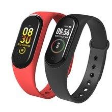 חכם להקת כושר Trcker M4 ספורט צמיד פדומטר קצב לב לחץ דם Bluetooth בריאות Wirstband עמיד למים Smartband