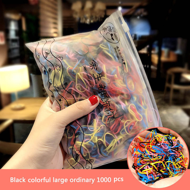 1000pcs Girls Small Ring Hair Rubber Bands Kids Elastic Ponytail Holder Ropes
