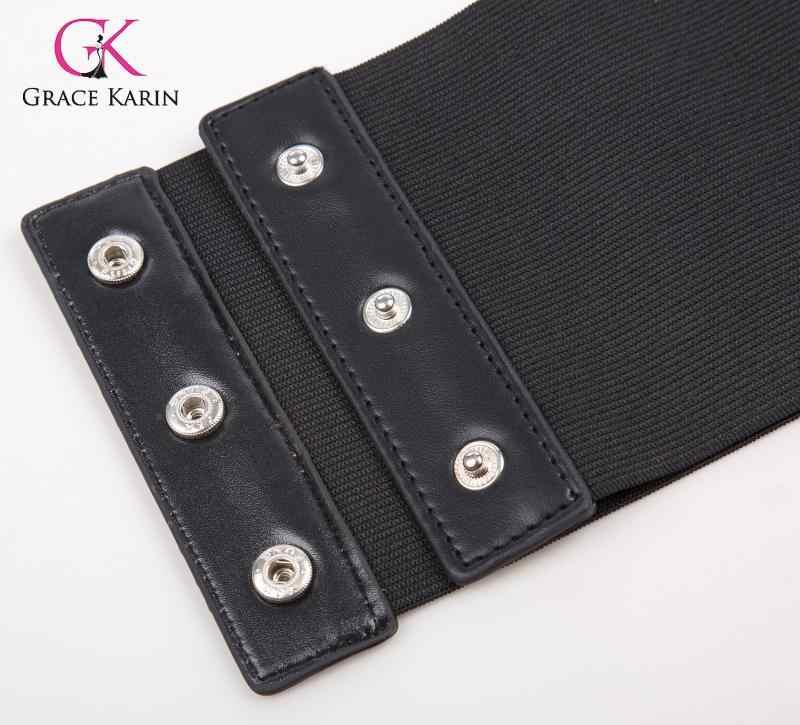 Grace karin feminino laço cinch cinto amarrado cintura larga faixa forma espartilho cintura cincher underbust elástico cinto de cintura