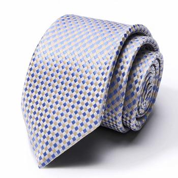 New Design Tie for Men Silk Luxury Business Striped Ties Wedding Party Necktie Mens Classic