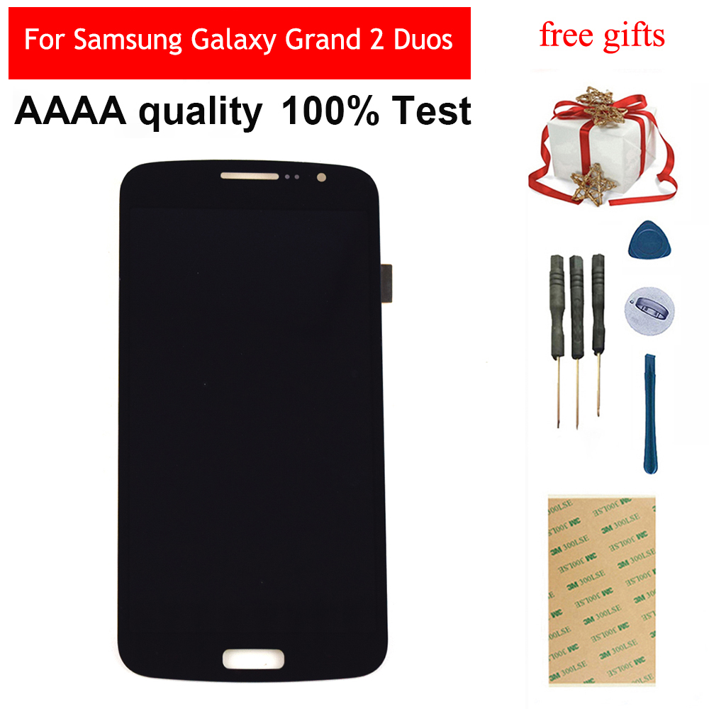 Pour Samsung Galaxy Grand 2 Duos G7102 G7105 G7106 G7108 écran tactile numériseur capteur panneau verre + LCD écran moniteur assemblage