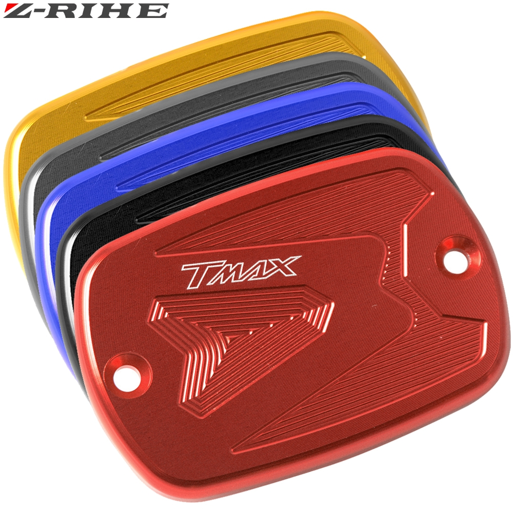 NEW CNC Aluminum Red Motorcycle Brake Fluid Fuel Reservoir Tank Cap Cover For YAMAHA T-Max 500 TMAX 500 TMax 530