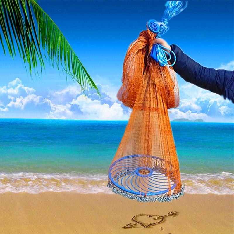 Fishnet Tire Frisbee-Hand Net American-Style Seine Fishing Net Yi Pao Iron Chain Net Casting Outdoor Tool